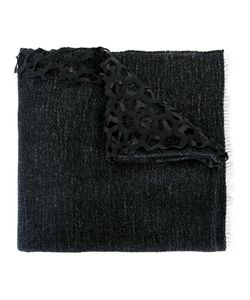 Cutuli Cult | Lasered Leather Scarf Womens Leather/Viscose/Wool/Cashmere
