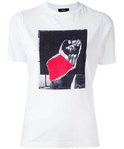 Yang Li | Logo Print T-Shirt Womens Size 44 Cotton
