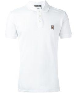 Moschino Vintage | Embroidered Teddybear Polo Shirt Mens Size 46
