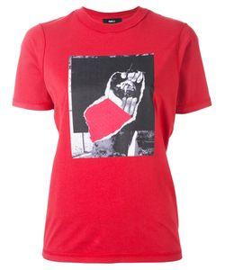 Yang Li | Printed T-Shirt Womens Size 44 Cotton