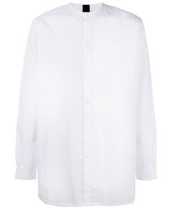 Odeur | Oversized Collarless Shirt Adult Unisex Size Small Cotton