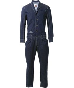 Education From Youngmachines | Contrast Trim Single Breast Tapered Leg Jumpsuit