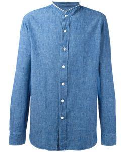 Salvatore Piccolo | Denim Shirt Mens Size 40 Cotton/Linen/Flax