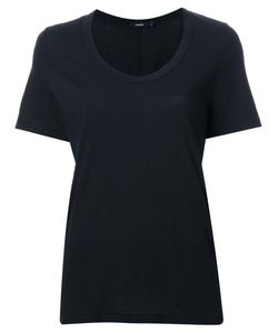 Bassike | Scoop Neck T-Shirt Womens Size 6 Organic Cotton
