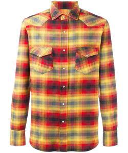 Salvatore Piccolo | Plaid Shirt Mens Size 40 Cotton