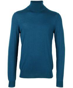 Paolo Pecora | Turtleneck Fine Knit Jumper Mens Size Medium Wool