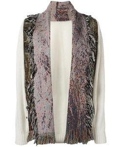Bless | Fringed Cardigan Womens Size Medium Cotton/Wool