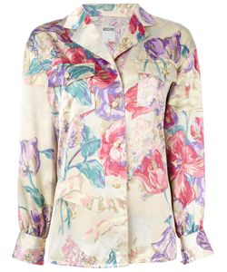 Moschino Vintage | Floral Printed Blouse Womens Size Large