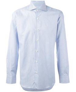 Barba | Pinstriped Button Down Shirt Mens Size 40 Cotton