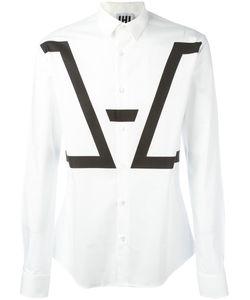 Les Hommes Urban   Geometric Print Shirt Mens Size 48 Cotton/Spandex/Elastane