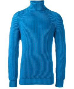 Lc23 | Cable Knit Turtleneck Jumper Mens Size Xs Merino