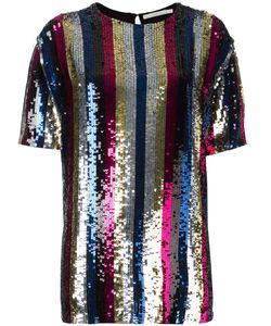 Amen | Sequin Embellished T-Shirt Womens Size 42 Viscose/Pvc