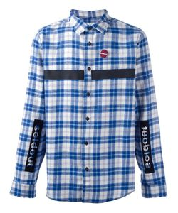 Sold Out Frvr | Patched Checked Shirt Mens Size Large Cotton/Polyester/Other