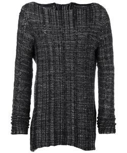 Cedric Jacquemyn   Striped Boat Neck Sweatshirt Mens Size Medium Cotton/Linen/Flax