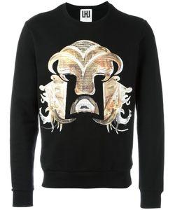 Les Hommes Urban   Warrior Embroidered Sweatshirt Mens Size Medium Cotton