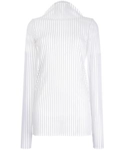Robert Wun | Ribbed Mock Neck Knitted Top Womens Size 8