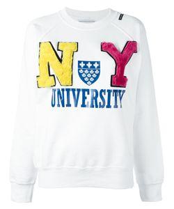 Forte Couture | Ny University Sweatshirt Womens Size Medium Cotton/Sheep Skin/Shearling
