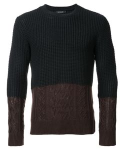 Loveless | Bicolour Jumper Mens Size 2 Polyester/Acrylic/Nylon/Wool