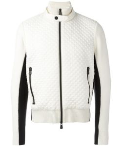 Moncler Grenoble | Bicolour Zipped Cardigan Mens Size Medium Polyamide/Polyester/Wool/Polyester