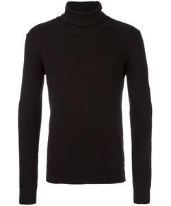 Paolo Pecora | Ribbed Turtleneck Jumper Mens Size Large Virgin Wool/Polyamide