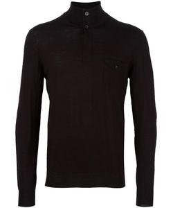 Paolo Pecora | Turtleneck Fine Knit Jumper Mens Size Medium Wool/Polyester/Polyurethane