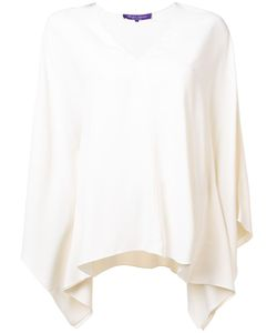 Ralph Lauren Collection | V-Neck Flared Blouse Womens Size 10 Viscose/Acetate