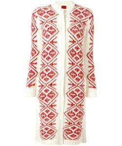 Moncler Gamme Rouge   Geometric Pattern Long Cardigan Womens Size 40