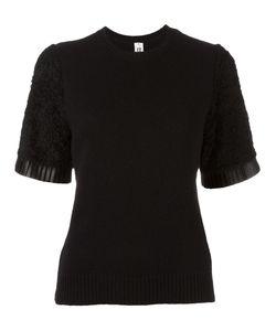 Comme Des Garçons Noir Kei Ninomiya | Textured Sleeve Jumper Womens Size