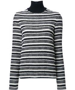 Martin Grant | Striped Turtleneck Jumper Womens Size 40 Cotton/Polyamide/Polyester/Spandex/Elastane