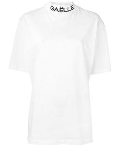 Gaelle Bonheur   Mock Neck T-Shirt Womens Size 2 Cotton