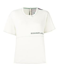 Eckhaus Latta | Floral Back Print T-Shirt Womens Size Medium Cotton