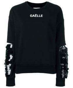 Gaelle Bonheur   Sequin Cuff Sweatshirt Womens Size 2 Cotton