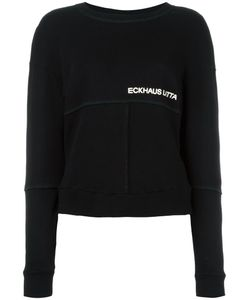 Eckhaus Latta | Cropped Paneled Trim Jumper Womens Size Medium Cotton