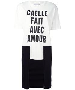 Gaelle Bonheur   Contrast High Low Hem T-Shirt Womens Size 0