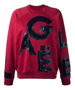 Gaelle Bonheur   Lace Letter Insert Sweatshirt Womens Size 2 Cotton