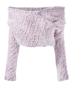 Daizy Shely | Off The Shoulder Jumper Womens Size 40 Wool/Polyamide/Metallized