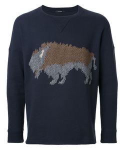 Taakk | Bull Motif Sweatshirt Mens Size 2 Cotton