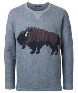 Taakk | Bull Motif Sweatshirt Mens Size 1 Cotton