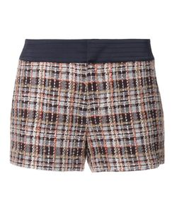 Loveless | Plaid Tweed Shorts Womens Size 36 Cotton