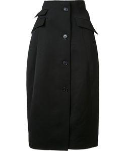 Yang Li | Flap Pocket Long Skirt Womens Size 42 Virgin