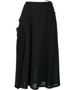 Y's   Yoke Panel Skirt Womens Size 1 Cupro/Wool