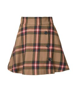 Loveless | Plaid A-Line Skirt Womens Size 36 Lambs Wool