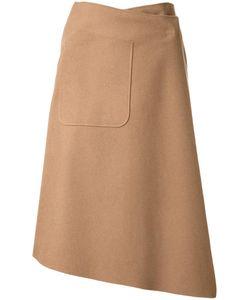 Mihara Yasuhiro   Miharayasuhiro Asymmetric Wrap Skirt Womens Size 36 Wool
