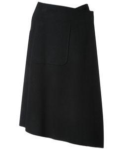 Mihara Yasuhiro   Miharayasuhiro Asymmetric Wrap Skirt Womens Size 38 Wool