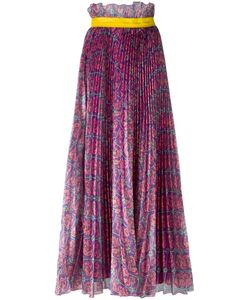 Daizy Shely | Floral Print Pleated Skirt Womens Size 44 Polyester