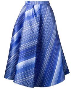 Vika Gazinskaya | Striped A-Line Skirt Womens Size 36 Polyester/Silk