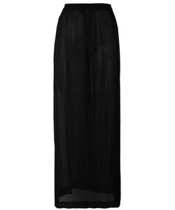 Ilaria Nistri | Sheer Long Skirt Womens Size 40 Silk