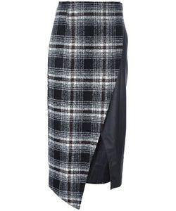 Gaelle Bonheur   Asymmetric Plaid Skirt Womens Size 0 Polyester/Acrylic/Cashmere