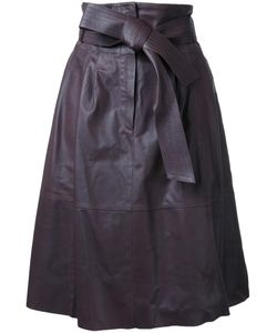 Desa | 1972 Panelled Flared Skirt Womens Size 6 Leather