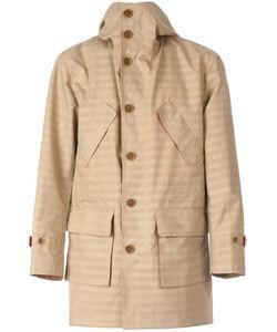 Taakk | Perforated Stripe Coat